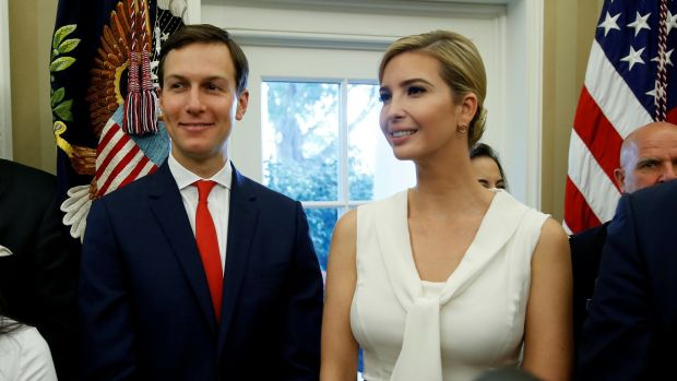 White House senior adviser Jared Kushner and his wife Ivanka Trump must now report to chief of staff John Kelly. Photograph: Joshua Roberts/Reuters