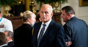 The new White House chief of staff General John Kelly:  often described the White House as one of the most dysfunctional organisations he had ever seen. Photograph: Doug Mills/The New York Times