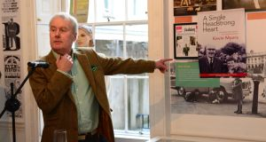 Kevin Myers at launch of his book last year. Photograph: Dara Mac Dónaill