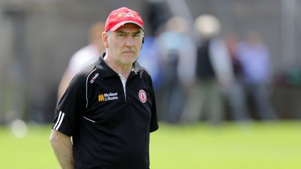 Mickey Harte: the three-time All-Ireland winning manager has overseen the steady rise of another generation of Tyrone footballers. Photograph: Morgan Treacy/Inpho