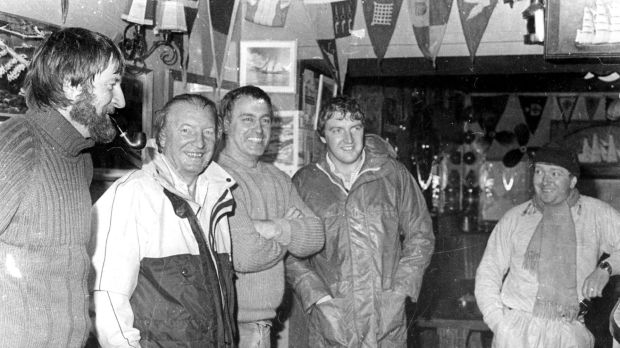 Baltimore lifeboat: Charlie Haughey with the RNLI crew that rescued the late taoiseach, his son Conor and three family friends in 1985, after their boat sank off Mizen Head. Photograph: Provision