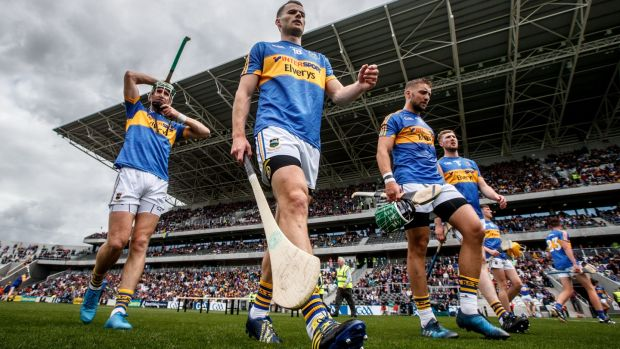 Tipperary's Noel McGrath, Sean Curran, James Barry and Tomas Hamill at Páirc Uí Chaoimh. Photograph: James Crombie/Inpho-