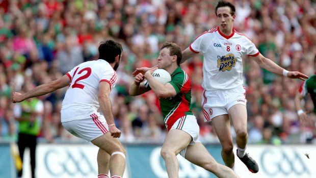 Joe McMahon and Colm Cavanagh against Mayo in 2013. Inpho