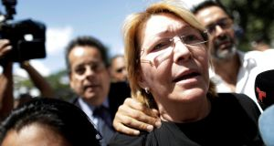 Venezuela's chief prosecutor: Luisa Ortega in front of the public prosecutor's office in Caracas. Photograph: Ueslei Marcelino/Reuters