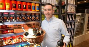 Retail manager Killian Martin at Dollard & Co on Wellington Quay, which is located in the former Dollard Printworks. Photograph: Cyril Byrne / The Irish Times