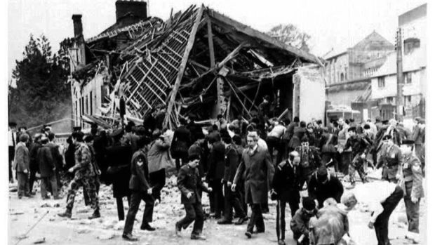 Long-term trauma: the scene following the Enniskillen bomb blast, in Co Fermanagh, which claimed the lives of 11 people.