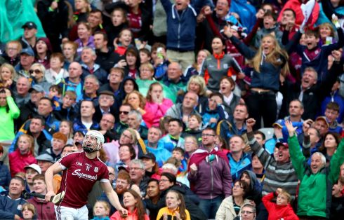 POINT OF VIEW: Joe Canning's late point wins the game for Galway in their All-Ireland senior hurling championship semi-final clash against Tipperary, in Croke Park. Photograph: INPHO/James Crombie