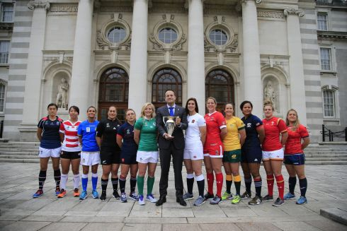 RUGBY WORLD CUP: The Women's Rugby World Cup captains visit Taoiseach Leo Varadkar in Dublin.  Photograph: Nick Bradshaw