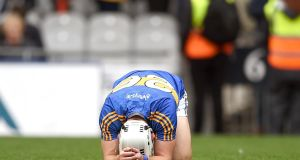 Tipperary's Niall O'Meara  after the final whistle  of the  Championship semi-final in Croke Park. Photograph: INPHO/Tommy Grealy