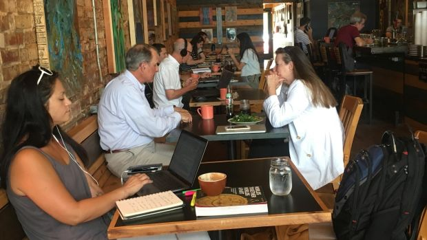 Mean Mug cafe, Chattanooga: citizens recently re-elected Democratic mayor Andy Berke, despite Tennessee being a Republican-heavy state.