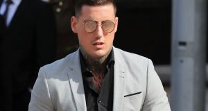 Irish reality TV star Jeremy McConnell arrives at Liverpool Magistrates' Court. Photograph: Peter Byrne/PA Wire