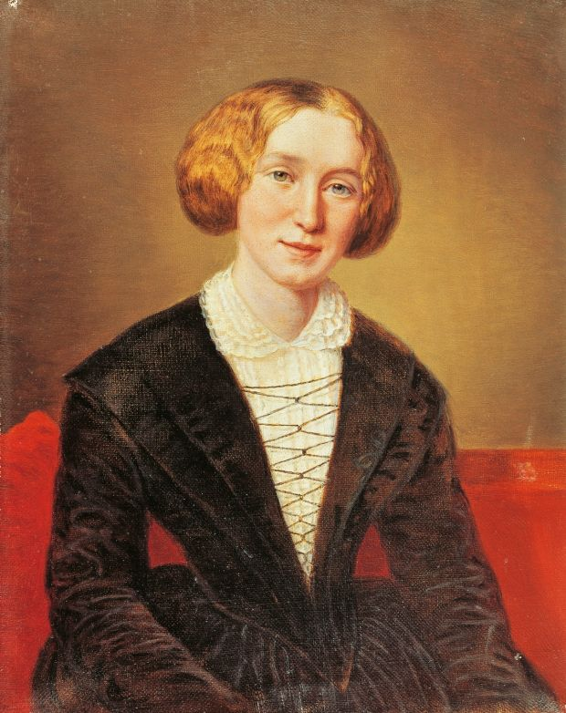 Portrait of George Eliot by Francois d'Albert-Durade: she enjoyed a transatlantic friendship with Harriet Beecher Stowe, the author of antislavery novel Uncle Tom's Cabin