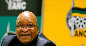 Jacob Zuma: Tuesday's vote on Mr Zuma's future will be the eight vote of confidence in his presidency to take place since he first came to office in 2009. Photograph:  Phill Magakoe/AFP/Getty Images