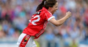 Eimear Scally scored five second-half points for Cork against Monaghan. Photograph: Ryan Byrne/Inpho