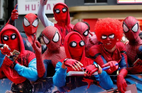 WEB SITE: Fans wait for the arrival of cast member Tom Holland and director Jon Watts during the Japan premiere of 'Spider-Man: Homecoming', in Tokyo. Photograph: Kim Kyung-Hoon/Reuters