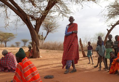 KENYAN SNAPSHOT: An elderly Samburu tribesman stands in a village near Baragoy, Kenya. Photograph: Goran Tomasevic/Reuters