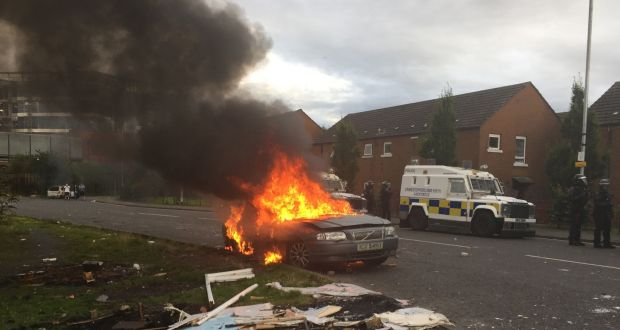 Belfast Police Call For Calm After Cars And A Building Set On Fire