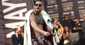 What will Conor McGregor's son think of his father when he looks this vile spectacle up on YouTube in a few years' time? Photograph: Mike Lawrie/Getty Images