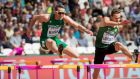 Thomas Barr:  affected by  illness which forced him to withdraw from his 400m hurdle semi-final at the World Championships.  Photograph: Morgan Treacy/Inpho