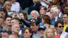President Michael D Higgins at Croke Park on Monday. Frances Fitzgerald and Bertie Ahern are two names that have been linked to the presidency.  Photograph: Dara Mac Dónaill