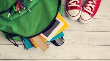 According to a report published  this year by the National Parents' Council, almost one-third of parents of primary school pupils said their children could not walk to school because of the weight of their schoolbags. Photograph: iStock