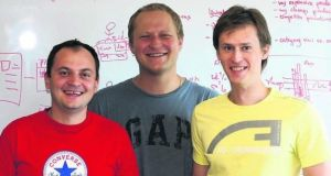 Profitero cofounders (from left) Volodymyr Pigrukh, Dmitry Vysotski and Kanstantsin Chernysh