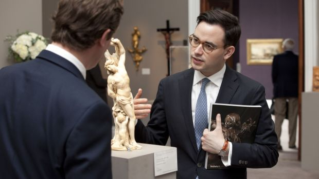 "Christopher Mason, specialist in European sculpture, Sotheby's. ""The key thing to look for are marbles with their original surfaces"""