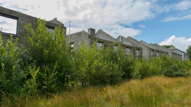 Abandoned housing estate Lios na Gréine in Lismire, Co Cork. Photograph: Michael Mac Sweeney/Provision
