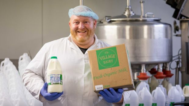 Kenny Hurley of The Village Dairy, suppliers of organic milk and cream to Gino's Gelato