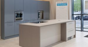Cash & Carry Kitchens is right on the button with its new Denim Blue kitchen.