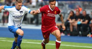 Liverpool's Philippe Coutinho in action in a pre-season friendly against Hertha Berlin last month. Photograph: Reuters/Hannibal Hanschke