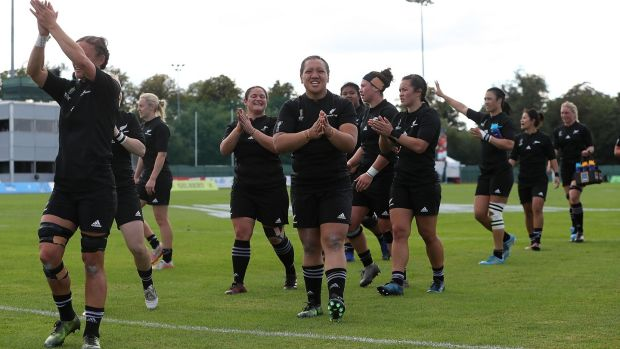 New Zealand celebrate their opening World Cup win over Wales. Photograph: David Rogers/Getty