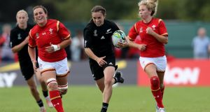Selica Winiata scored a hat-trick as New Zealand romped past Wales in their World Cup opener. Photograph: David Rogers/Getty