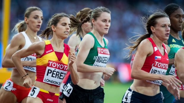 Ciara Mageean in action during the 1500m heats at the World Athletics Championships in London. Photograph: Morgan Treacy/Inpho