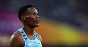 I was left in disbelief when Botswana runner Isaac Makwala was denied  the chance to line up in the 400m final. Photograph: John Walton/PA Wire.