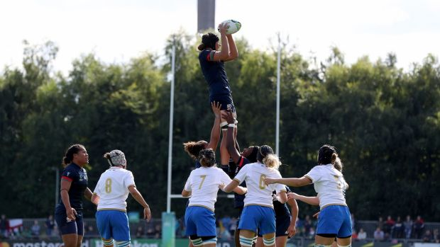 USA women opened their World Cup campaign with a hard-fought win over Italy. Photograph: Bryan Keane/Inpho