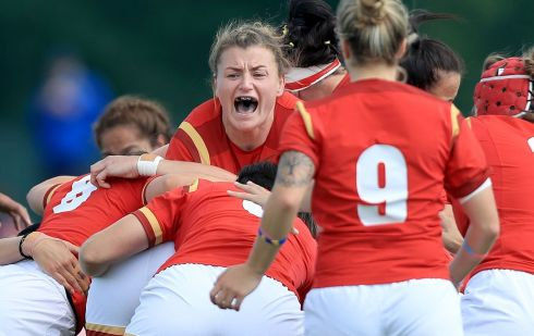 Wales' Rachel Taylor during the 2017 Women's Rugby World Cup, Pool A match at Billings Park, Dublin. Photo Donall Farmer/PA Wire.