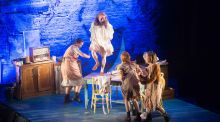 Dancing at Lughnasa: 'An  explosion of flour and frustration unites the sisters as their wireless provokes a ceilidhe in the kitchen'. Photograph:  Darragh Kane