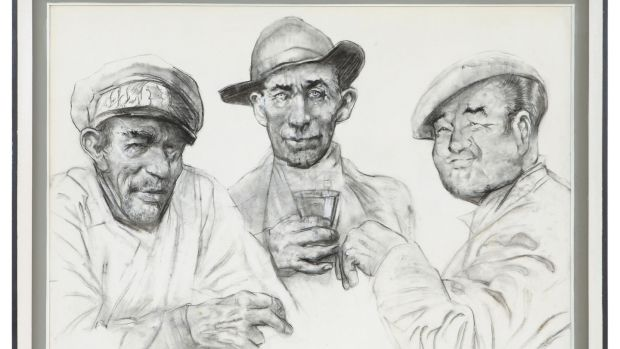 Fir ón Oiléan,a charcoal drawing by Sean Keating which went for €17,000