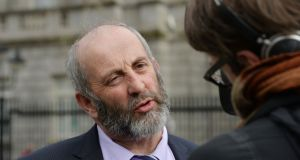 Danny Healy Rae:  TD said  a dip in the road in Kerry is possibly due to malevolent intrusions by fairies. Photograph: Alan Betson / The Irish Times