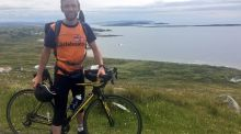 Shane O'Neill, round-Ireland cyclist, in Co Donegal