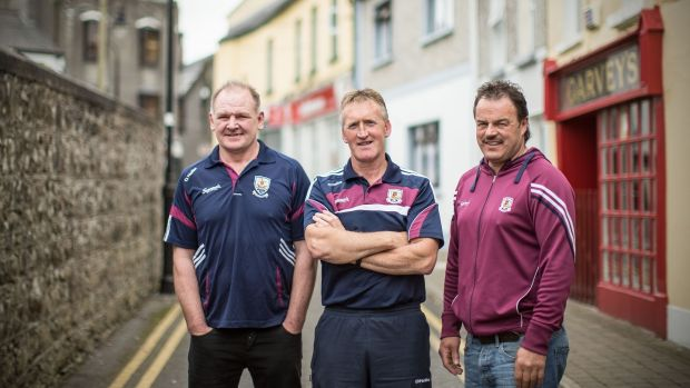 Tony Keady pictured with his Galway half-back partners Pete Finnerty and Gerry McInerney