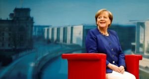 German chancellor Angela Merkel: the car industry is a crucial pillar of the German economy, employing 800,000 directly and generating a fifth of economic output. Photograph: Hannibal Hanschke/Reuters