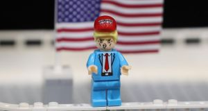 A Donald Trump Lego figure. The Danish company said it had appointed Niels Christiansen, who joins Lego after nine years as chief executive of Danfoss. Photograph: Niall Carson/PA Wire