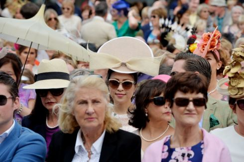Faces in the crowd at the Dublin Horse Show. Photograph: Alan Betson/The Irish Times