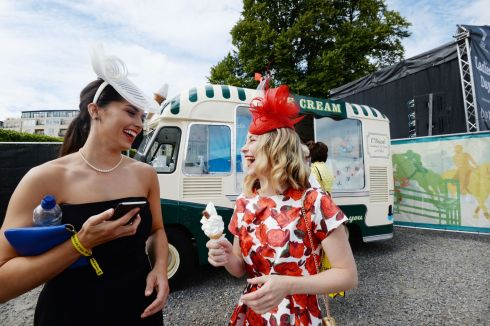 Isabelle Cairns (New Ross, Wexford) with Emer Mulcahy (Middleton, Cork). Photograph: Alan Betson/The Irish Times