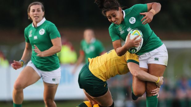 Jenny Murphy: one of the Irish players likely to be rested for the game against Japan. Photograph: Brian Lawless/PA