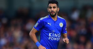 Riyad Mahrez: expressed his desire to leave  Leicester City at the end of last season. Photograph:  Tony Marshall/Getty Images