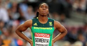 South Africa's Caster Semenya: After falling just short of winning the 1,500m on Monday night, Semenya duly won her heat  in London  in 2:01.34, extending a now unbeaten 23-month winning streak at that distance. Photograph:  Adam Davy/PA Wire
