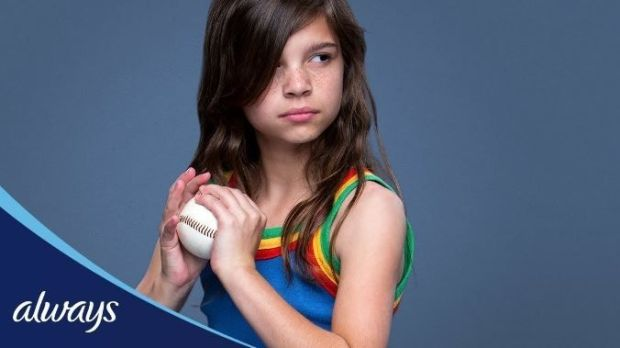 "A still from the Always #LikeAGirl advertising campaign in 2014: ""Progressive but saccharine"""